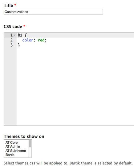 使用 CSS Injector 模块添加CSS样式
