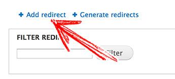 Drupal redirect - 添加URL重定向