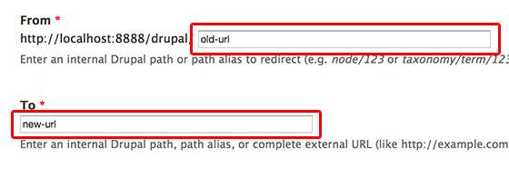 Drupal redirect - URL重定向设置