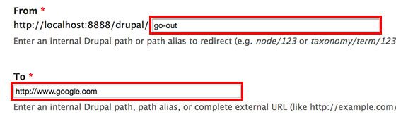 Drupal redirect - 重定向到外部页面